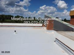 Laying PVC membrane in Nikopol