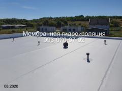 Membrane roof, membrane laying in Kamenskoye