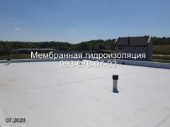 Мембранна покрівля, ремонт покрівлі в Новомосковську