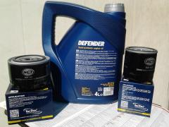 "Oil semi-synthetics""Mannol DEFENDER10W-40""will sell.And the filter GIVES"