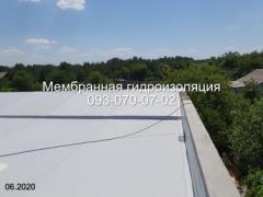 Покрівельні роботи ПВХ мембраною в Новомосковську