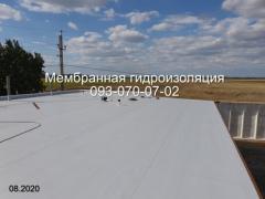 ремонт та влаштування покрівлі ПВХ мембраною в Дніпрі
