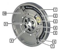 Repair dual-mass flywheel