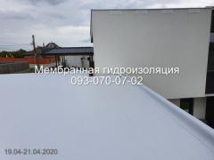 Repair of a membrane roof in the Dnieper
