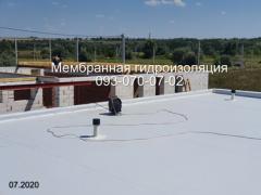 Repair of a membrane roof, laying a PVC membrane in Kryvyi Rih